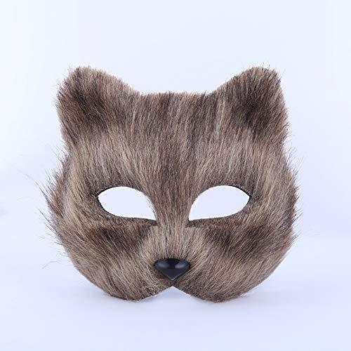 EMHU Fox halbe Gesichtsmaske Tiergesicht Kostüm Kostüm Erwachsene Pro Masquerade Theme ()