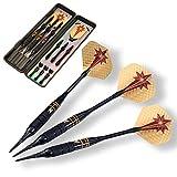 Treffen Sie ins Schwarze - 3 Hochwertige 18g/23g Dartpfeile mit Kunststoffspitze oder Stahlspitze perfekt geeignet für E-Darts/Classic Darts