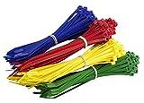 200Multi-Pack farbige Kabelbinder–PREMIUM Rot, Grün, Blau und Krawatte Gelb Packungen–Hohe Qualität Starke Nylon Zip Kabelbinder von gocableties, mehrfarbig