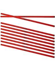 Cawila 00930051 - Barras para entrenamiento (10 unidades, 100 cm), todo el año, color rojo - rojo, tamaño 100 cm