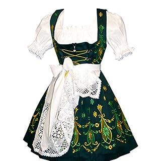 Dirndl Trachten Haus Women's 3-Piece Short German Dress 44 Green