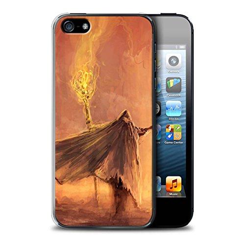 Offiziell Chris Cold Hülle / Case für Apple iPhone SE / Dramargu/Vollmond Muster / Dämonisches Tier Kollektion Kriegsheld/Warlock