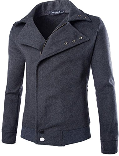 Jeansian Hommes Costumes Fashion Trend Mens Casual Simple Jacket Coat 9368 gray