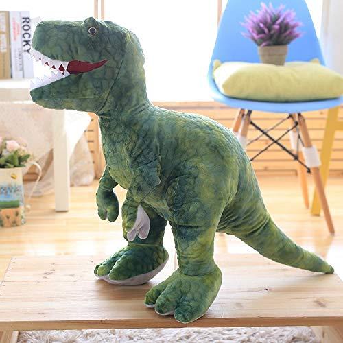 CGDZ 50cm-110cm Simulation en Peluche Dinosaure Jouets en Peluche Animaux en Peluche Dinosaure Oreiller Tyrannosaure Rex Poupées Enfants Filles Cadeaux 80 cm
