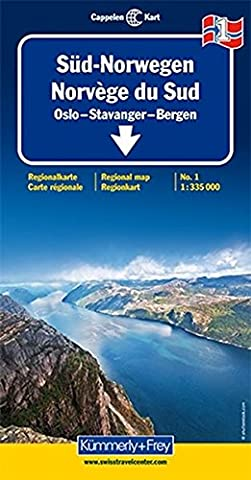 Kümmerly & Frey Karten, Süd-Norwegen: Oslo, Stavanger, Bergen (Kümmerly+Frey Reisekarten)