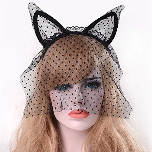 Stirnband mit Spitze, Katzenohren