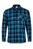 Max Pro Herren Flanell-Hemd Arbeitshemd 100% Baumwolle Blau Gr. L/42 MP1013_L