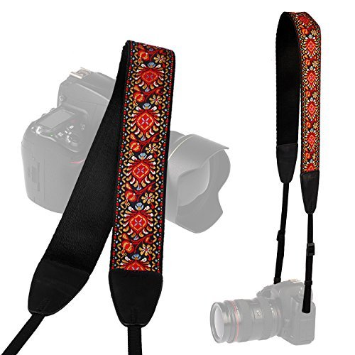 LYNCA Camera Shoulder Neck Soft Vintage Jacquard Weave Strap Belt for SLR DSLR mirrorless Digital Cameras Nikon Canon Sony Pentax B Style  available at amazon for Rs.2149