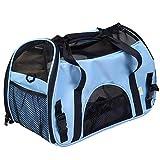 Wanayou - Trasportino per animali domestici, per gatti e cani di taglia piccola e grande, utilizzabile anche in aereo, portatile, in tessuto morbido e leggero con tappetino di peluche