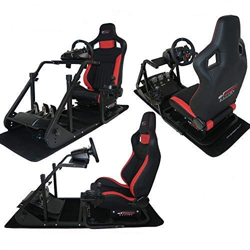 GT Omega ART Racing Simulator Cockpit RS6 Gaming Console Seat for Logitech  G920, G29, G27, G25 Steering Wheel Pedals & Shifter Mount V2 PS4 Xbox One