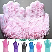 MZY1188 1 par de Guantes de Silicona para Lavar Platos - Guantes de Limpieza mágicos Reutilizables, Guantes de Goma para el hogar para Cocina/automóvil/baño
