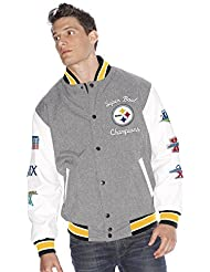 "Pittsburgh Steelers NFL ""Kneel Down"" Super Bowl Commemorative Varsity Jacket Chaqueta"
