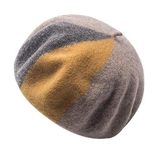Kangqifen Damen Baskenmütze Wollmütze Warm Barett Mütze Damenmütze Verschiedene (Kostüme Nationen Verschiedene Vereinten)