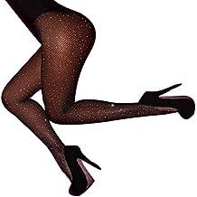 sans Couture Collants Femmes Sexy Strass Résille Maille Cuisse-Haute Bas  Ultra-Mince Transparent 57469e9f283
