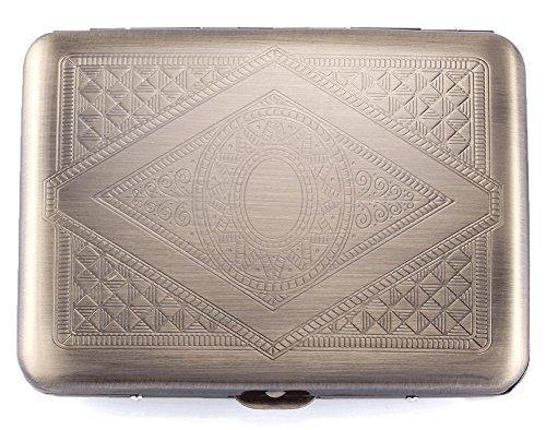 RFID Edelstahl-Geldbörse Kreditkarten-Halterung - verhindern elektronische Kreditkarten-Scan-Diebstahl - Cool Slim Design für Männer & Frauen (Bronze)