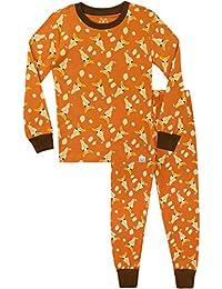 Harry Bear Pijamas de Manga Larga para niños Jirafa Ajuste Ceñido