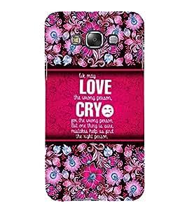 Love Quotation 3D Hard Polycarbonate Designer Back Case Cover for Samsung Galaxy E5 :: Samsung Galaxy E5 E500F (2015)