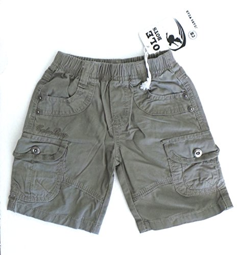 Preisvergleich Produktbild réf450–Caprihose Kinder Jungen–Shorts Bermuda Rankgitter aus Jean Khaki–1Jahr