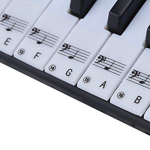 MOOCY Piano Aufkleber Abziehbarer Schlüssel 49617688Tastatur Note Decals für Anfänger - Aufkleber Piano Für Schlüssel