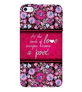 A Poet Love Quote 3D Hard Polycarbonate Designer Back Case Cover for Apple iPhone 4