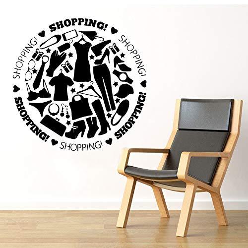 Mode Kleidung Wandkunst Aufkleber Wandkunst Aufkleber Wandbilder Dekoration Zubehör Für Wohnzimmer Vinyl Wasserdichte Wandtattoo 86 cm X 84 cm