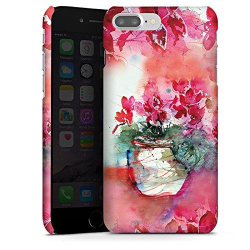 Apple iPhone X Silikon Hülle Case Schutzhülle Gemälde Rosen Blumen Premium Case glänzend