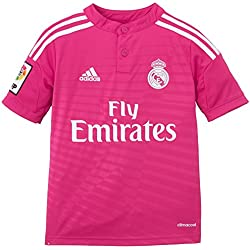 adidas - Camiseta Junior 2ª Equipación Real Madrid Cf 2014-2015, color rosa, talla 128 cm