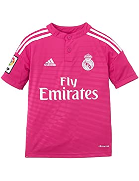 adidas Camiseta Junior 2ª Equipación Real Madrid Cf 2014-2015, color rosa, talla 140 cm