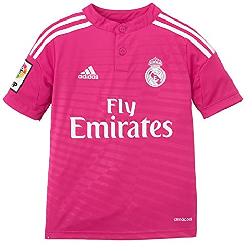 adidas Real Away Maillot Garçon Blast Pink F13/White FR : 14 ans (Taille Fabricant : 164)