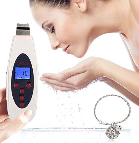 [Nuova versione] Buydalybeauty portatile LCD digitale del viso ad ultrasuoni pelle Scrubber dermoabrasione pelle ringiovanimento anti-età