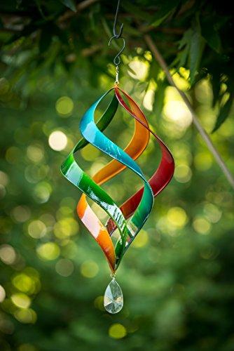 TS Gardendeco Windspiel Iron, dekorativ und pulverbeschichtet, mehrfarbig, 23 x 23 x 46 cm, 134439 - 2