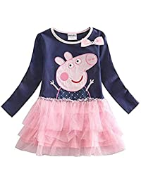Nova Kids - Robe - Manches Longues - Fille blue,pink
