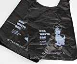 All-Green 500 x Biodegradable Dog Poo Bags (Dog Poop Bag/Dog Waste Bags) - Eco friendly - Black with Tie Handle