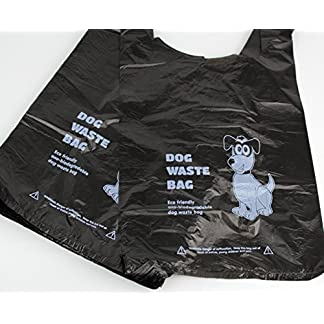 500 x Biodegradable Dog Poo Bags (Dog Poop Bag/Dog Waste Bags) – Eco friendly – Black with Tie Handle 51pr7JC6t4L