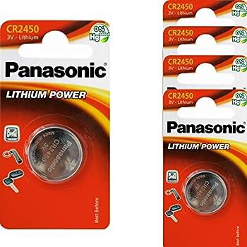 5x Pilas de Botón CR2450 Baterías 3V 620mAh PANASONIC - Producto Industrial