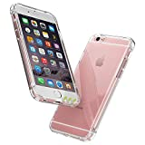Garegce Coque iPhone 6 Coque iPhone 6s-Transparent Housse Bumper Doux-Souple TPU Silicone, [Cadeau Ecran en Verre Protecteur][Shock-Absorption] Cover pour iPhone 6/6s - 4.7 Pouces - Clair