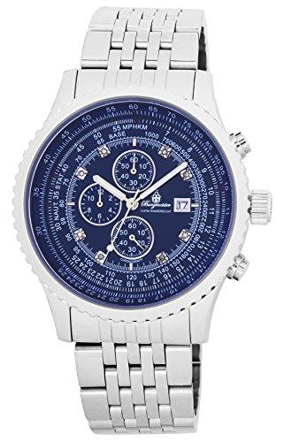 Burgmeister Armbanduhr für Herren mit Analog-Anzeige, Chronograph mit Edelstahl Armband - Wasserdichte Herrenarmbanduhr mit zeitlosem, schickem Design - klassische Uhr für Männer - BM320-131 Savannah