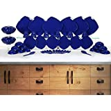 HOMRAY Opulence Microwave Safe 48 Pieces Dinner Set (Dark Blue)