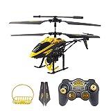 GizmoVine Wltoys V388 RC Helicóptero 3.5CH Giroscopio Integrado RTF Helicóptero Gancho&Cesta (Amarillo)