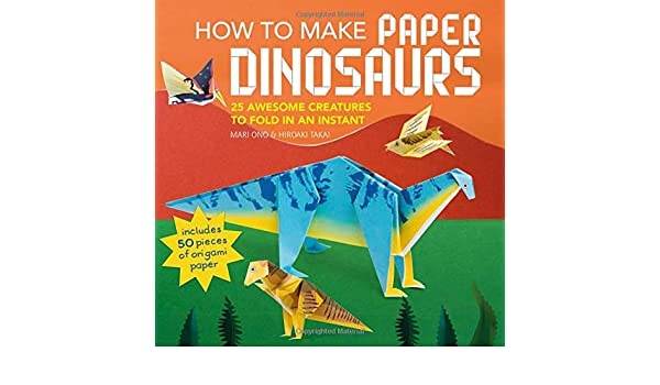 Origami Dinosaur Velociraptor - easy origami - How to make an ... | 350x600