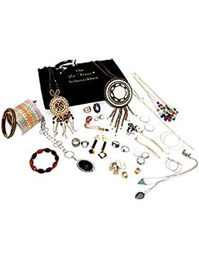 Die La Viano® Schmuck-Box Schmuck-Set Modeschmuck Überraschungspaket 20-25 Schmuckstücke Halskette Armreif Armband...
