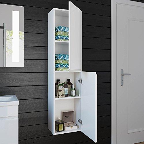1400 mm Tall White Bathroom Furniture Wall Hung Modern Cupboard Cabinet Storage Unit MF819 & 1400 mm Tall White Bathroom Furniture Wall Hung Modern Cupboard ...