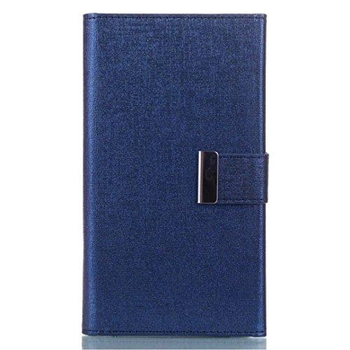 Cross Lines Texture PU Leder Wallet Case mit freistehenden TPU Back Cover Card Slots für Samsung Galaxy S8 ( Color : Red ) Blue