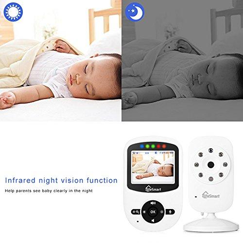 iLifeSmart SM24 Video Baby Monitor 2.4 Inch Babyphone mit Nachtsicht Temperaturüberwachung und Timer-Einstellung Funktionen Drahtlos Digital Kamera - 4