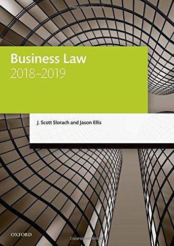 Business Law 2018-2019 (Legal Practice Course Manuals) por J. Scott Slorach