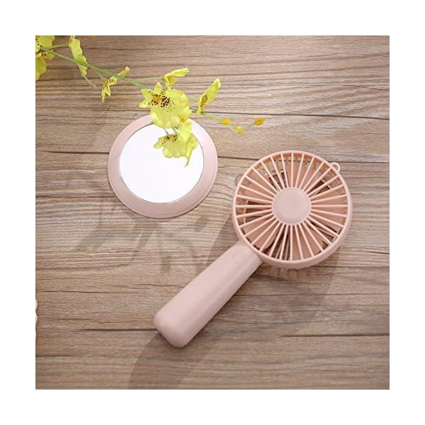 HSeaMall-Mini-ventilador-de-mano-con-espejo-USB-Mesa-recargable-Escritorio-Ventiladores-elctricos-Ventilador-de-refrigeracin-para-el-hogar-Oficina-que-acampa-de-camping-Actividades-al-aire-libre-Mirro