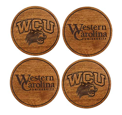 Western Carolina University Untersetzer, verschiedene Farben Kirsche Western Carolina University