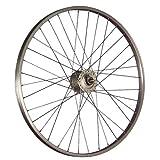 Taylor-Wheels 26 Zoll Vorderrad mit Nabendynamo Hollandrad - silber
