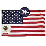 Lixure Amerikanische Flagge/Fahne USA Flagge 90x150cm(3x5 Fuß) US Flagge Permium Qualität Langlebige 210D Nylon für Draußen/Drinnen Sticksterne mit Messing Ösen-Nicht Billiger Polyester MEHRWEG