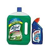 #7: Lizol Disinfectant floor cleaner Jasmine- 2 litre  with Free Harpic Power Plus Toilet Cleaner 500 ml
